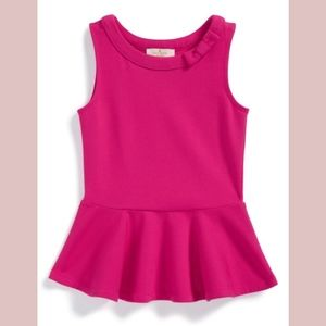 NEW kate spade new york Kids Sleeveless Peplum Top